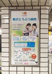 駒沢大学駅看板㈰